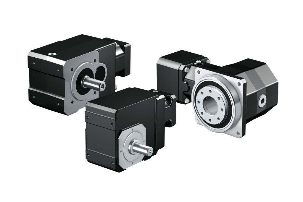 Kegelradgetriebe als Winkel und Axial.